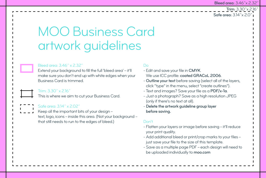 Business cards business card printing and design small moo business card guidelines reheart Choice Image